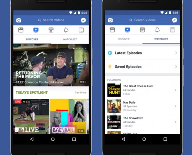 Facebook finally introduces its original video shows tab