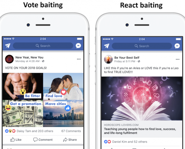 Facebook clamps down on Engagement Bait