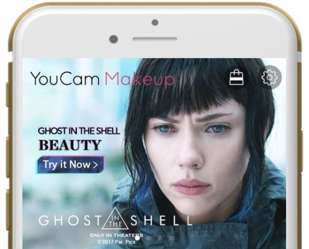 Branded YouCam filters promote Ghost in the Shell, putting focus on 'whitewashed' cast