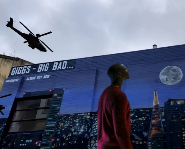 Island Records uses AR wall mural to promote Giggs' latest album