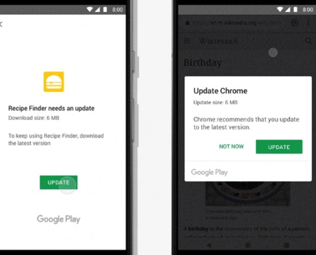 Google introduces API to let Android developers force in-app updates