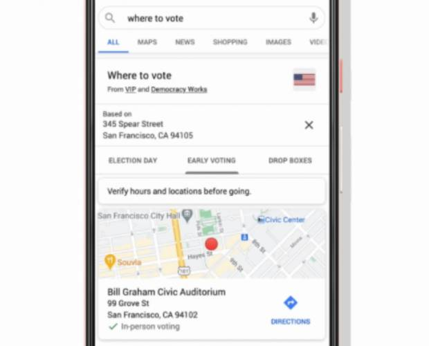 Google makes it easier to find where your nearest voting location is