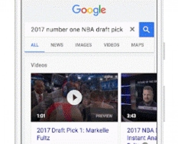 Google brings video previews to mobile Search