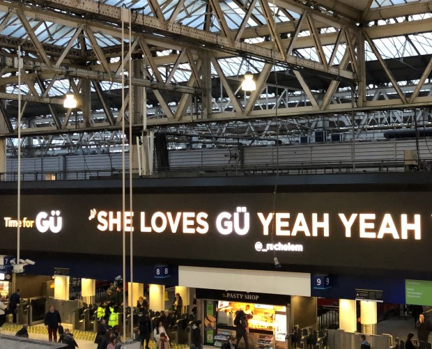 Dessert brand Gü goes big with socially-driven DOOH Valentine's Day campaign