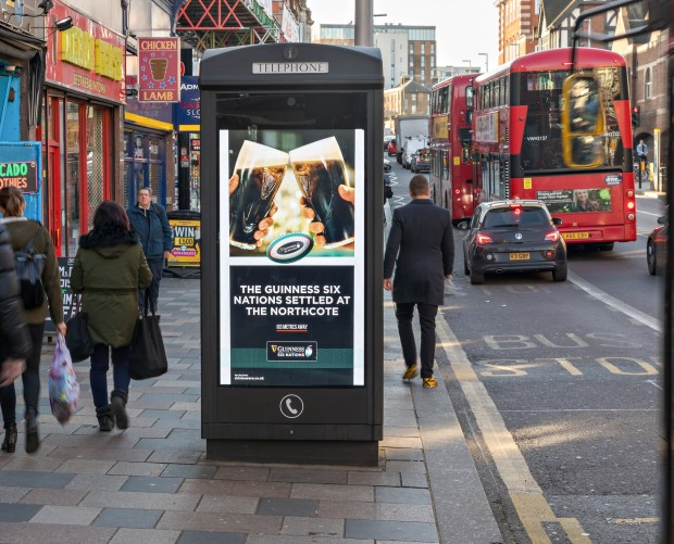 Guinness launches dynamic, digital out of home campaign to promote Six Nations
