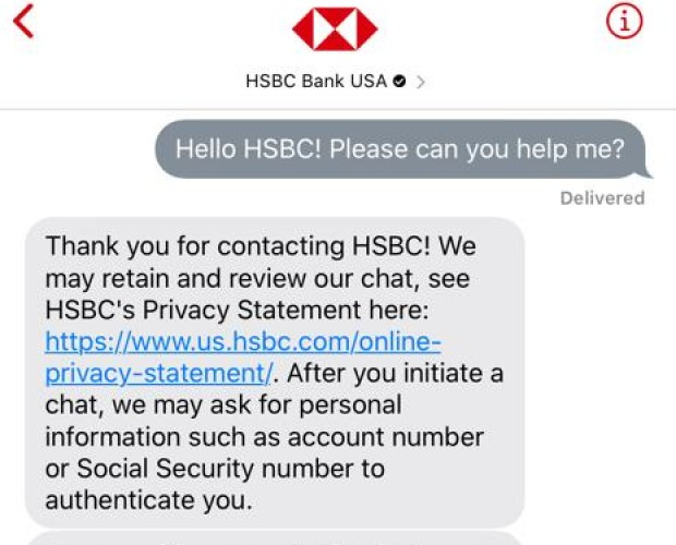 HSBC launches Apple Business Chat channel