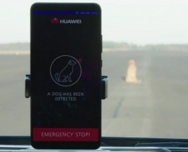 Huawei uses AI-powered smartphone to drive a Porsche