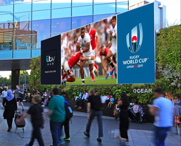 Ocean inks deal with ITV to show Rugby World Cup on its DOOH screens