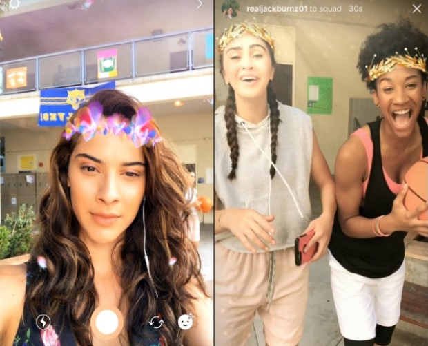 Instagram introduces Snapchat-like AR selfie filters