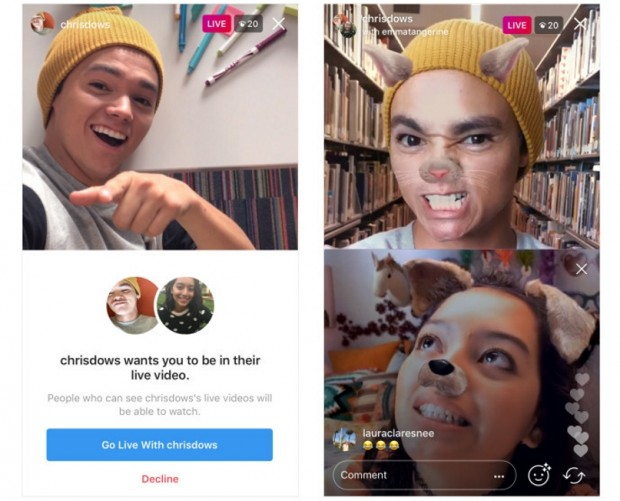 Now you can broadcast live alongside a friend on Instagram, wherever they are
