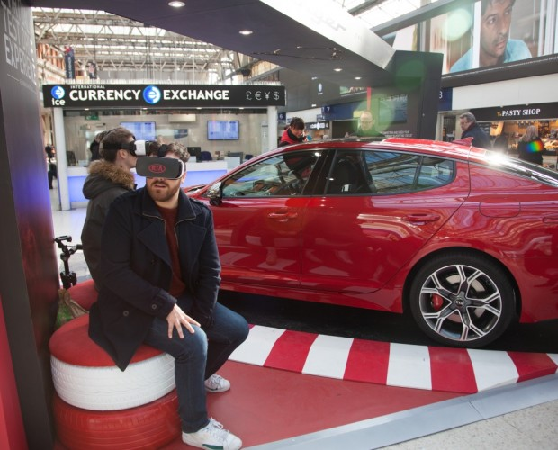 Kia takes over Waterloo Station with VR showroom