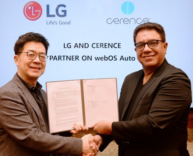 LG partners with Cerence to develop a next-generation in-car content platform