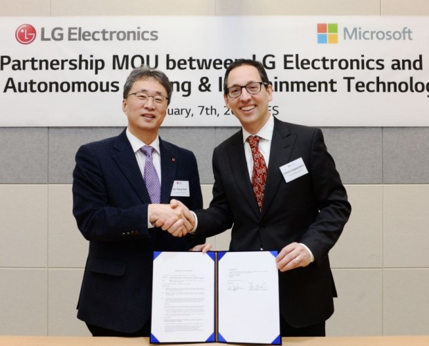 LG teams up with Microsoft on self-driving tech