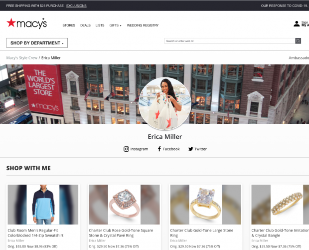 Macy's expands Style Crew ambassador program beyond its own employees