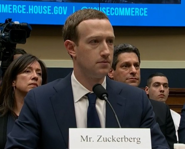 Mark Zuckerberg sits in front of US lawmakers over data privacy for the second day