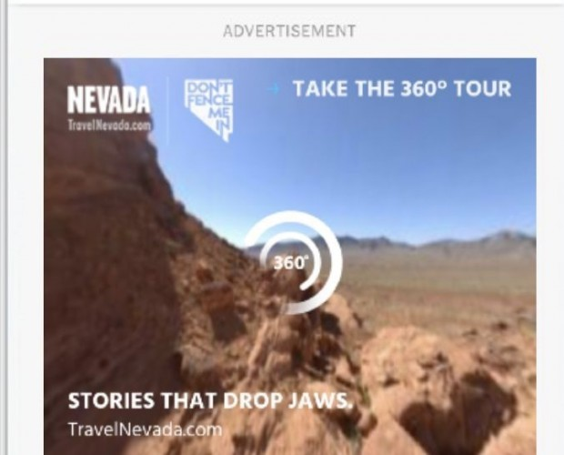 TravelNevada's 360 video ad campaign scores high on engagement