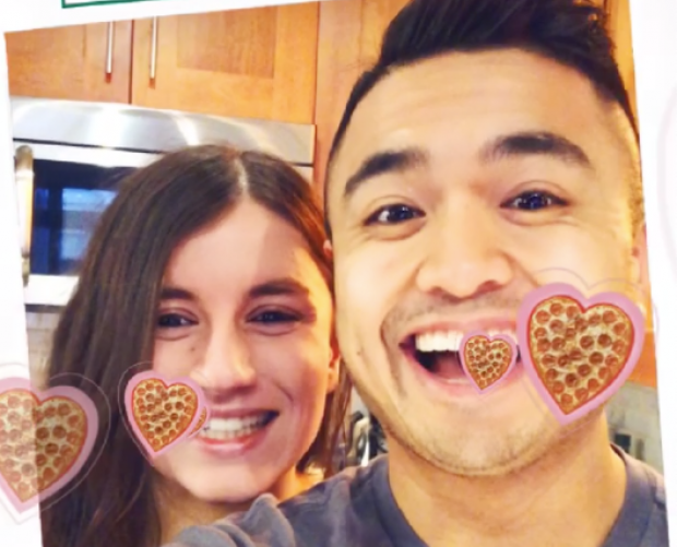 Papa John's turns to Snapchat AR Face Lens to promote heart-shaped Valentine's Day pizza