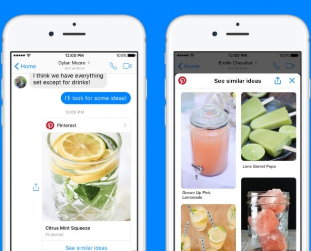 Pinterest introduces chat extension and bot to Facebook Messenger