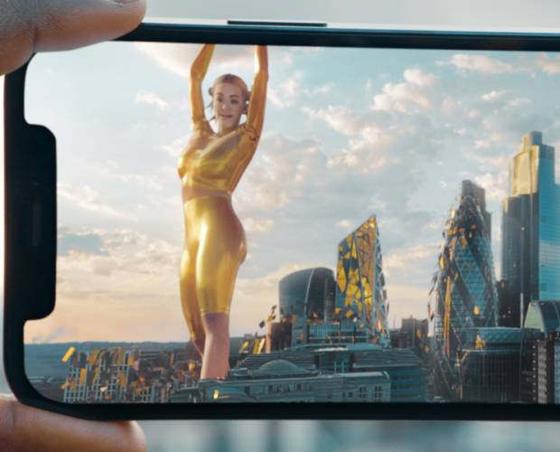 Rita Ora delivers AR performance for EE's latest campaign