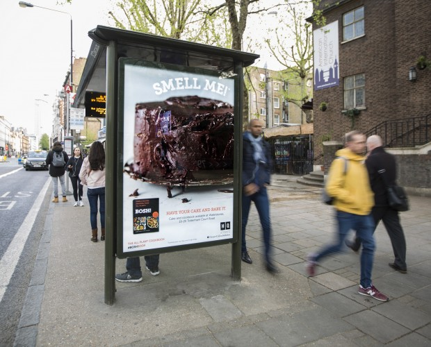 Mediacom and HarperCollins unveil scented bus shelter to promote BOSH! cookbook