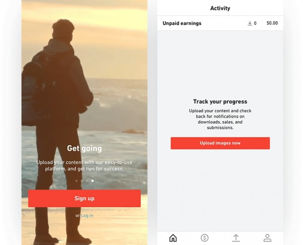 Shutterstock adds in-app registration for content makers