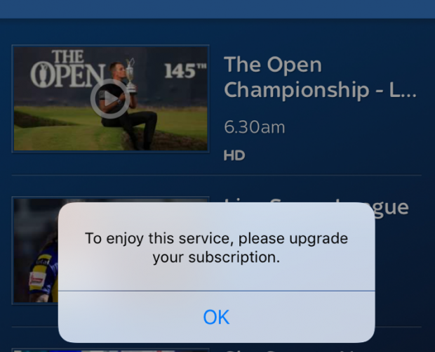 Sky Sports unbundling crashes Sky Go app for new customers