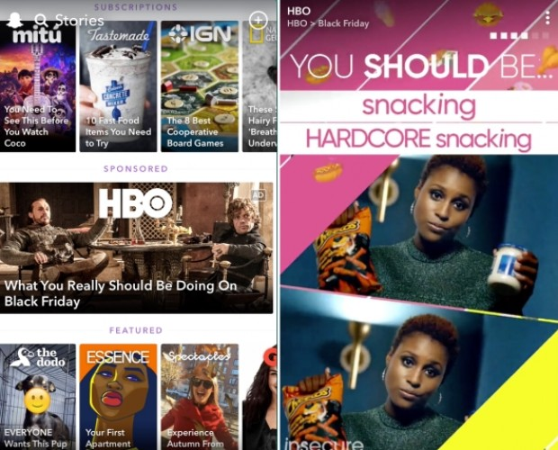 ASOS and HBO first to test Snapchat format that pushes ads to all users