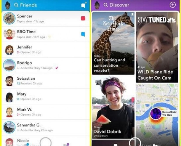 Snapchat unveils its big redesign which 'separates the social from the media'
