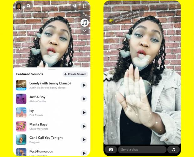 Snapchat launches Sounds, its TikTok rival