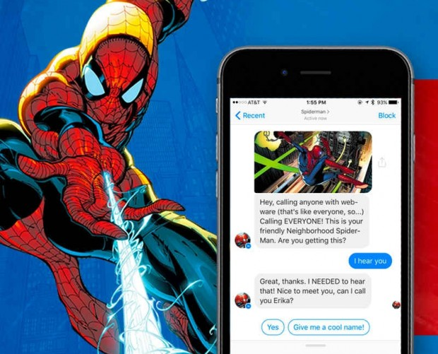 Spider-Man gets the chatbot treatment to promote Marvel's Secret Empire