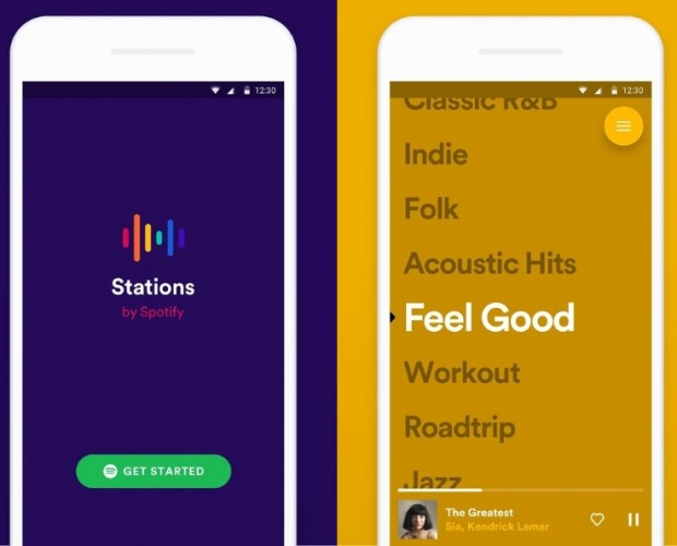 Spotify experiments with Pandora-like playlists app