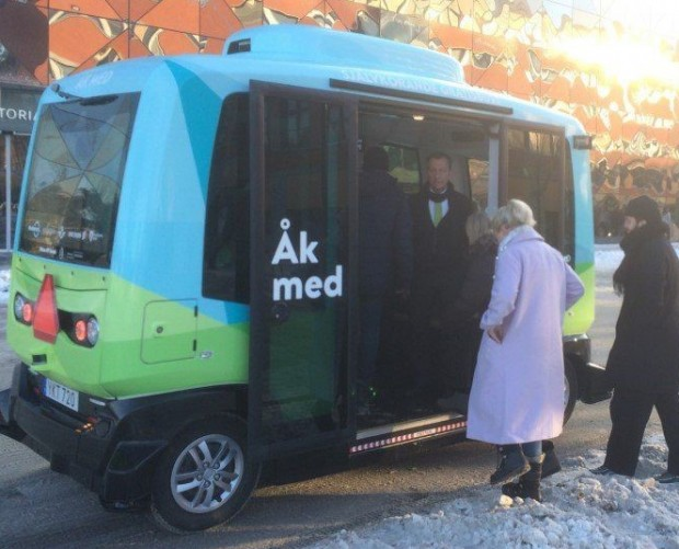 Self-driving buses hit the streets of Stockholm