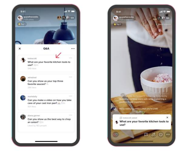 TikTok rolls out Q&A feature to help creators to engage more with viewers