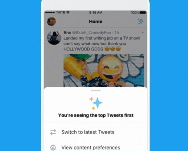 Twitter trials easier way to switch to a reverse chronological timeline