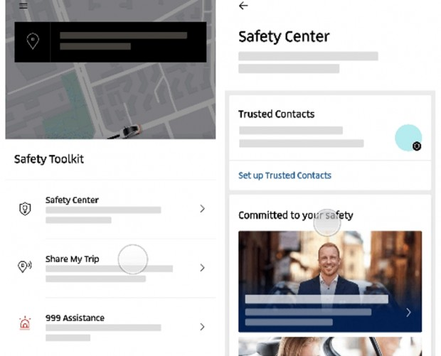 Uber brings a bunch of safety features to the UK and EMEA