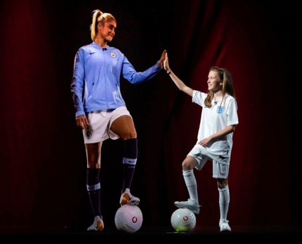 England Women captain Steph Houghton helps Vodafone conduct 'first' 5G holographic call