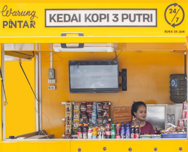 Indonesian street vendors are being are being kitted out with smart tech