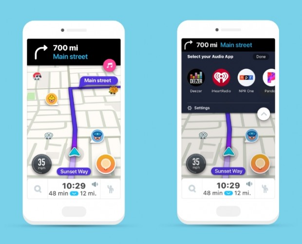 Waze adds in-app audio player supporting Pandora, Deezer, iHeartRadio, and more