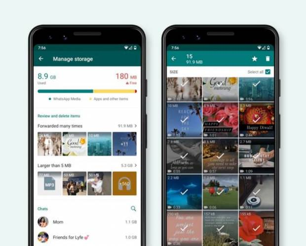 WhatsApp adds disappearing messages and updates storage management