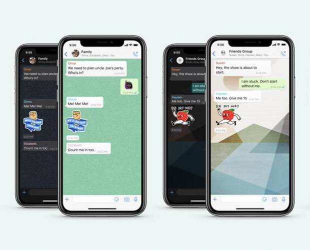 WhatsApp updates wallpapers, adds sticker search