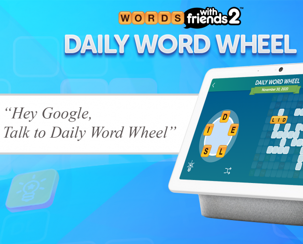 Zynga launches Daily Word Wheel game for Google Nest Hub devices