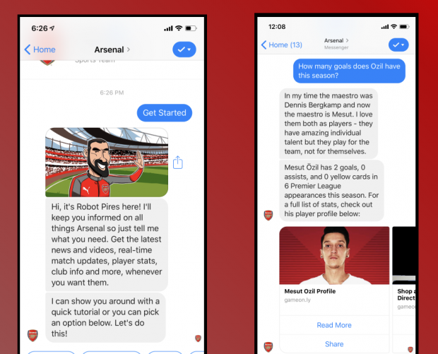 Arsenal FC embraces tech with AI club bot