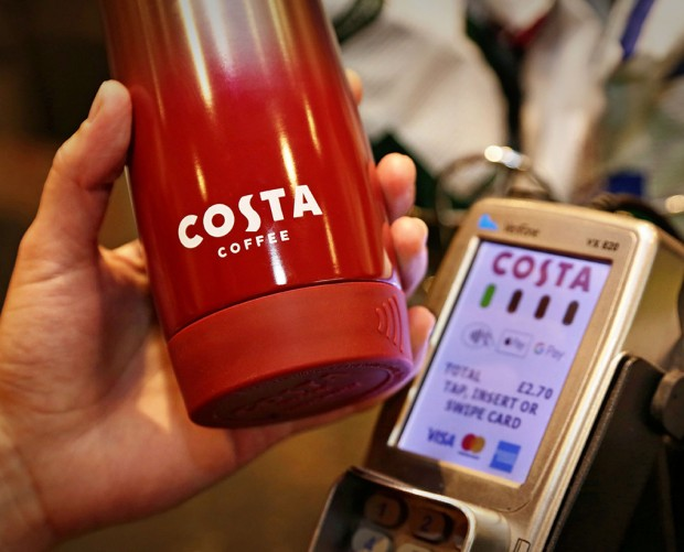 Costa Coffee and Barclaycard team up for contactless 'Clever Cup'