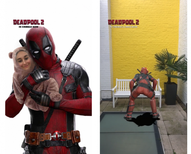 Deadpool twerks onto Snapchat to promote latest film