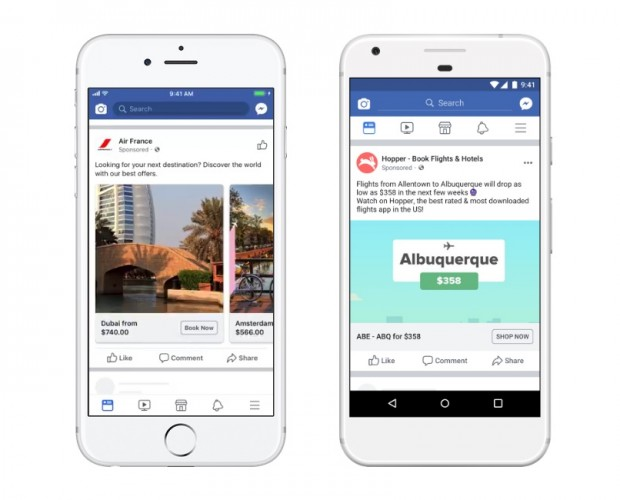 Facebook expands Flight Ads to target potential travellers