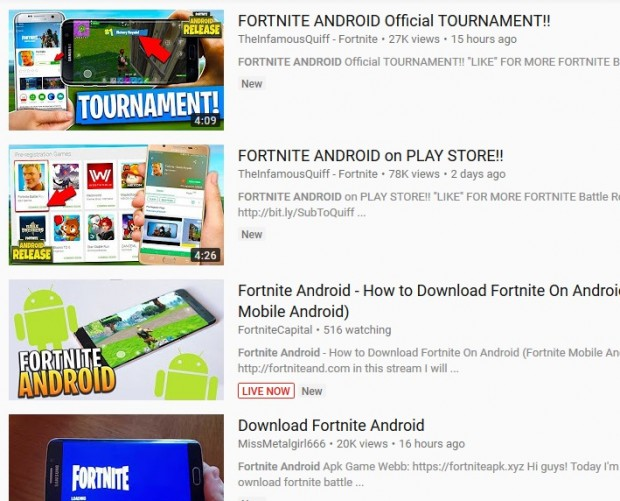 Epidemic of fake Fortnite apps hits internet