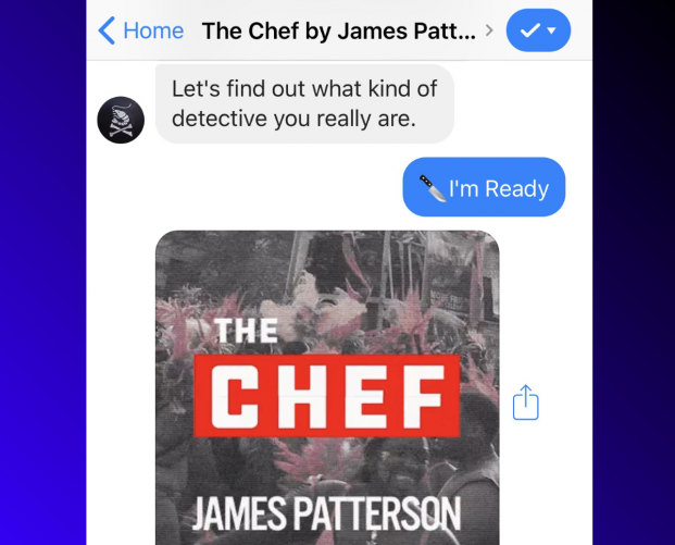 James Patterson releases interactive story on Facebook Messenger