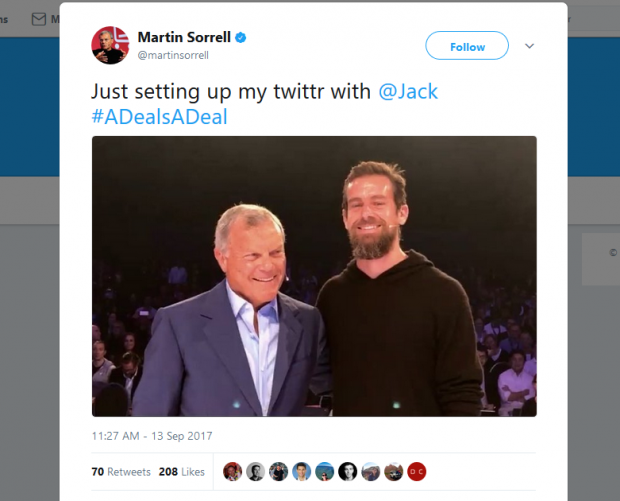 When Martin Met Jack: WPP and Twitter CEOs in conversation at Dmexco