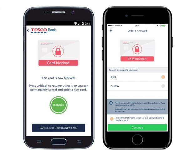 Tesco Bank expands mobile app functionality to help with lost cards