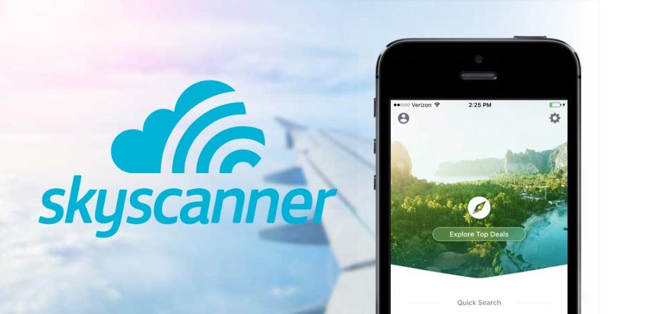 Resultado de imagen para skyscanner app